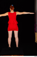 Charlie Red black high heels business dressed red dress standing t-pose whole body 0005.jpg