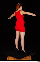 Charlie Red black high heels business dressed red dress standing t-pose whole body 0006.jpg