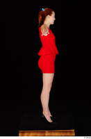 Charlie Red black high heels business dressed red dress standing t-pose whole body 0007.jpg