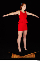 Charlie Red black high heels business dressed red dress standing t-pose whole body 0008.jpg