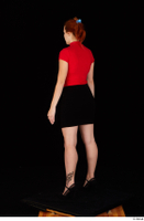 Charlie Red black high heels black skirt business dressed red turtleneck standing t shirt whole body 0004.jpg