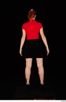 Charlie Red black high heels black skirt business dressed red turtleneck standing t shirt whole body 0005.jpg