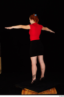 Charlie Red black high heels black skirt business dressed red turtleneck standing t shirt t-pose whole body 0004.jpg