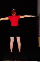 Charlie Red black high heels black skirt business dressed red turtleneck standing t shirt t-pose whole body 0005.jpg