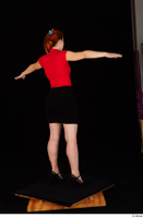 Charlie Red black high heels black skirt business dressed red turtleneck standing t shirt t-pose whole body 0006.jpg