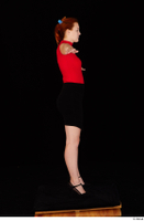 Charlie Red black high heels black skirt business dressed red turtleneck standing t shirt t-pose whole body 0007.jpg