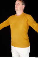 Paul Mc Caul casual dressed upper body yellow sweatshirt 0002.jpg