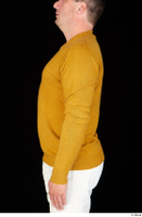 Paul Mc Caul casual dressed upper body yellow sweatshirt 0003.jpg