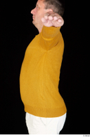 Paul Mc Caul casual dressed upper body yellow sweatshirt 0004.jpg