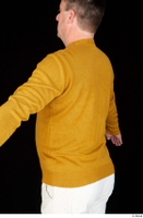 Paul Mc Caul casual dressed upper body yellow sweatshirt 0005.jpg