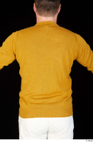 Paul Mc Caul casual dressed upper body yellow sweatshirt 0006.jpg
