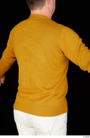 Paul Mc Caul casual dressed upper body yellow sweatshirt 0007.jpg