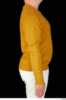 Paul Mc Caul casual dressed upper body yellow sweatshirt 0008.jpg