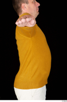 Paul Mc Caul casual dressed upper body yellow sweatshirt 0009.jpg