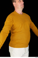 Paul Mc Caul casual dressed upper body yellow sweatshirt 0010.jpg