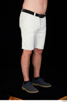 Paul Mc Caul black belt blue shoes casual dressed leg lower body white shorts 0008.jpg