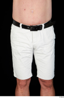 Paul Mc Caul black belt casual dressed hips thigh white shorts 0001.jpg
