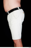 Paul Mc Caul black belt casual dressed hips thigh white shorts 0003.jpg