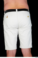 Paul Mc Caul black belt casual dressed hips thigh white shorts 0005.jpg