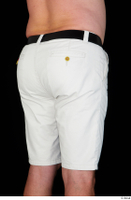 Paul Mc Caul black belt casual dressed hips thigh white shorts 0006.jpg