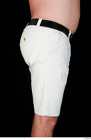 Paul Mc Caul black belt casual dressed hips thigh white shorts 0007.jpg