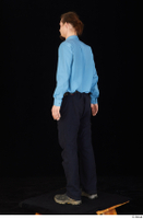 Gruffydd black shoes black trousers blue shirt dressed standing whole body 0004.jpg