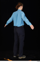 Gruffydd black shoes black trousers blue shirt dressed standing whole body 0013.jpg
