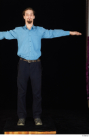 Gruffydd black shoes black trousers blue shirt dressed standing t poses whole body 0001.jpg
