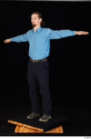Gruffydd black shoes black trousers blue shirt dressed standing t poses whole body 0002.jpg