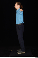 Gruffydd black shoes black trousers blue shirt dressed standing t poses whole body 0003.jpg