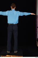 Gruffydd black shoes black trousers blue shirt dressed standing t poses whole body 0005.jpg