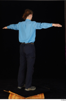 Gruffydd black shoes black trousers blue shirt dressed standing t poses whole body 0006.jpg
