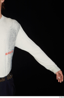 Gruffydd arm dressed upper body white long sleeve t shirt 0002.jpg