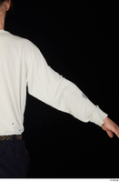 Gruffydd arm dressed upper body white long sleeve t shirt 0005.jpg
