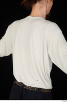 Gruffydd dressed upper body white long sleeve t shirt 0006.jpg
