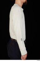 Gruffydd arm dressed upper body white long sleeve t shirt 0006.jpg