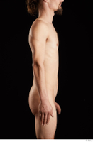 Gruffydd  1 arm flexing nude side view 0001.jpg