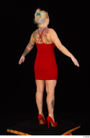 Jarushka Ross dressed red dress red high heels standing whole body 0014.jpg