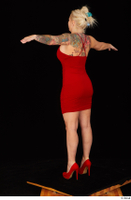 Jarushka Ross dressed red dress red high heels standing t poses whole body 0004.jpg