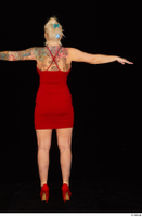 Jarushka Ross dressed red dress red high heels standing t poses whole body 0005.jpg