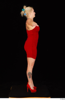 Jarushka Ross dressed red dress red high heels standing t poses whole body 0007.jpg