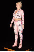 Jarushka Ross dressed pink jogging suit pink sneakers standing whole body 0002.jpg