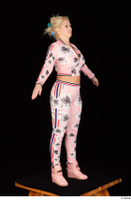 Jarushka Ross dressed pink jogging suit pink sneakers standing whole body 0016.jpg