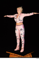 Jarushka Ross dressed pink jogging suit pink sneakers standing t poses whole body 0002.jpg