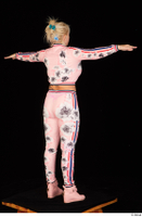 Jarushka Ross dressed pink jogging suit pink sneakers standing t poses whole body 0006.jpg