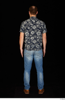 Orest blue jeans blue shirt brown shoes casual dressed standing whole body 0005.jpg