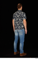 Orest blue jeans blue shirt brown shoes casual dressed standing whole body 0006.jpg