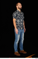 Orest blue jeans blue shirt brown shoes casual dressed standing whole body 0008.jpg