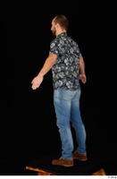 Orest blue jeans blue shirt brown shoes casual dressed standing whole body 0012.jpg