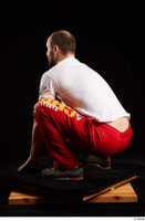 Orest  1 dressed grey shoes jogging suit kneeling red panties white t shirt whole body 0004.jpg